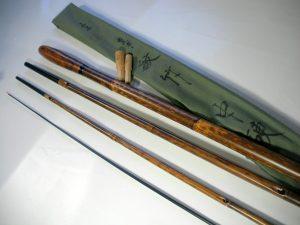 へら竿 山甚作 古武士 紋竹 握り木製