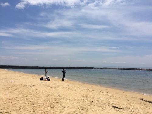 須磨海岸でまめあじ&小鯖祭りを眺める