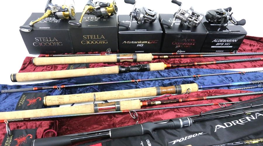 シマノ ステラ ワールドシャウラなど様々なルアー用品を大量買取いたしましたら!